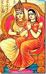 Bhumi Devi with Sita Devi