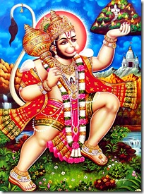 Hanuman flying to the rescue