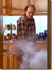 George Costanza seeing the fire