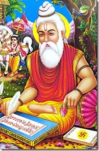 Valmiki composing the Ramayana