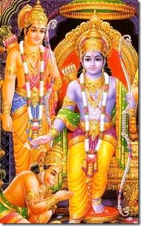 Rama and Lakshmana with Hanuman