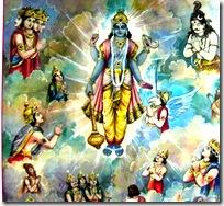 Devas worshiping the Lord