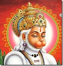 Hanuman in meditation