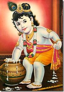 Lord Krishna stealing butter