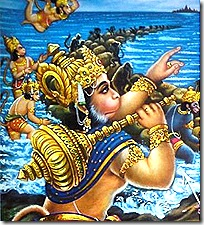 Hanuman with the monkeys