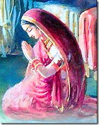 Praying to Krishna