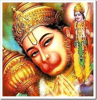 Hanuman thinking of Rama