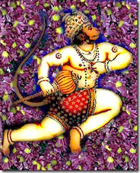 Hanuman crossing the ocean