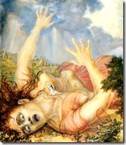 Krishna crawling on Putana