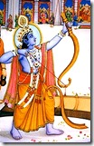 Lord Rama lifting Shiva's bow