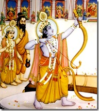Rama with Vishvamitra and Lakshmana