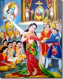 Krishna with Draupadi