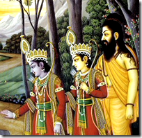 Vishvamitra with Lakshmana and Rama