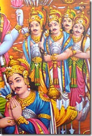 King Yudhishthira and his brothers