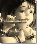 Lord Krishna as a baby