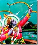 Lord Rama aiming His arrow