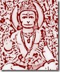 Hanuman with flowers