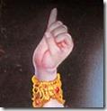 Krishna holding up Govardhana Hill