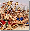 Vanaras fighting for Rama