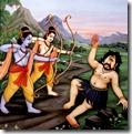 Rama and Lakshmana slaying Viradha