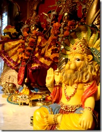 Deities in the temple