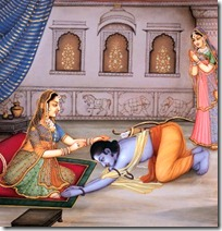 Shri Rama paying respects to His mother
