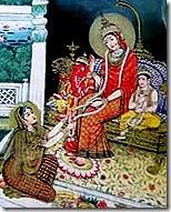 Sita worshiping Parvati