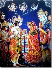Sita and Rama's wedding