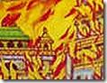 Ravana's city on fire