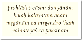 Bhagavad-gita, 10.30