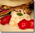 Flowers offered at Krishna's lotus feet