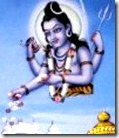 Lord Shiva dropping flowers