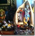 Altar for worshiping Krishna