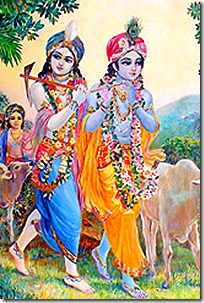 Krishna and Balarama with friends