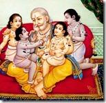 Dasharatha with children