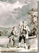 [Ben Franklin's kite experiment]