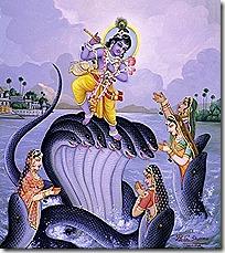 [Krishna dancing on Kaliya]