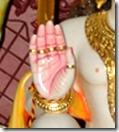 [Shri Hanuman's hand]
