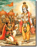 [Lord Krishna with Arjuna]