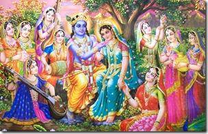 [Radha and Krishna with gopis]