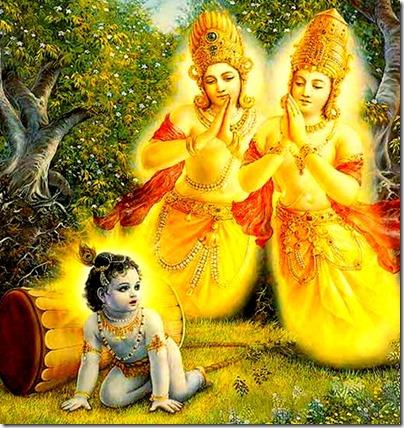[Krishna with arjuna trees]