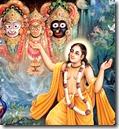[Lord Chaitanya worshiping]