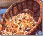 [vendor's basket of jewels]