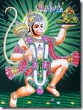 [Hanuman holding mountain]
