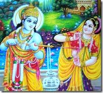 [Radha and Krishna playing Holi]