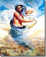 [Krishna with Trinavarta]