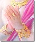 [Hanuman praying]