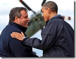 [Obama-Christie hug]