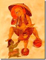 [Vamanadeva and his three steps]