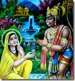 [Hanuman meeting Sita]